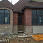 Home with exterior finishes
