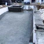 ICF pool after concrete is poured