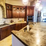 Poured concrete kitchen counter tops