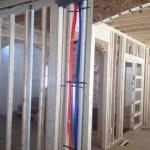 Interior framing and radiant tubing