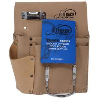 Suede 6-Pocket Tool Pouch for Drywallers