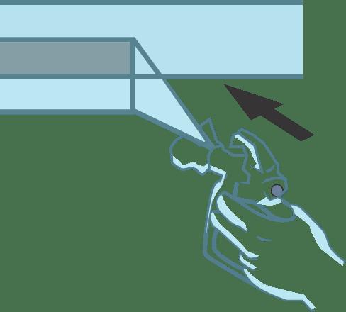 cara overlapping spray gun