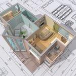 3d house on 2d plan