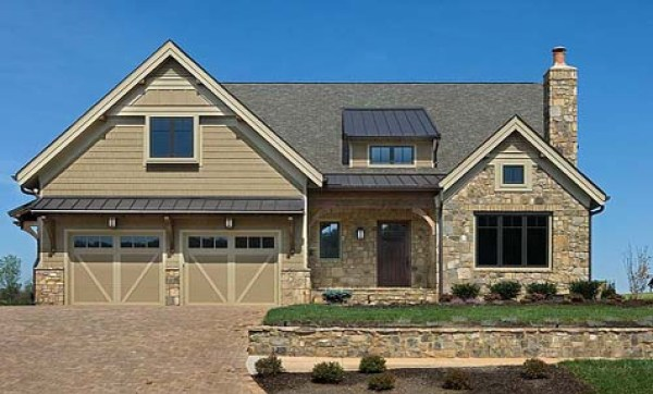 Wood Siding with Cultured Stone Siding