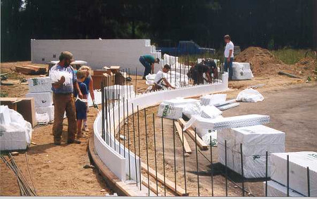Building Curved Wall with Insulated Concrete Forms