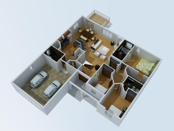 The Laurels - 1512 sq. ft.-3d