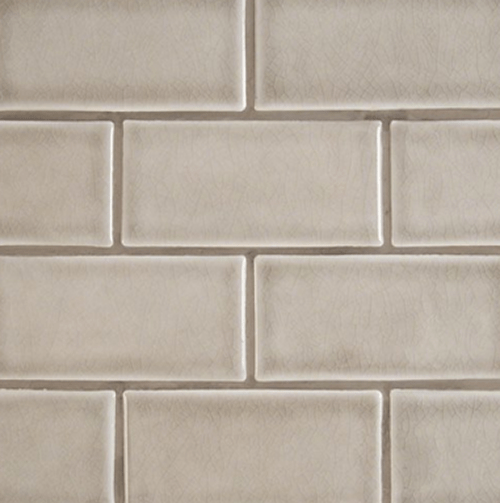 highland park collection dove gray 3x6 handcrafted subway tile
