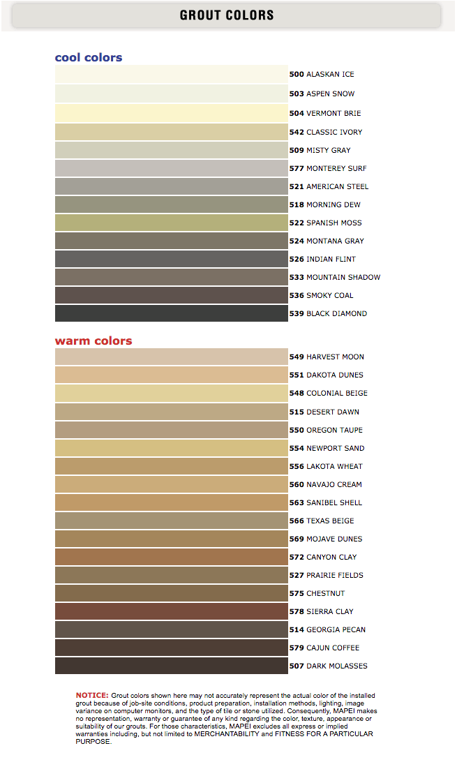 tile grout colors the thin line