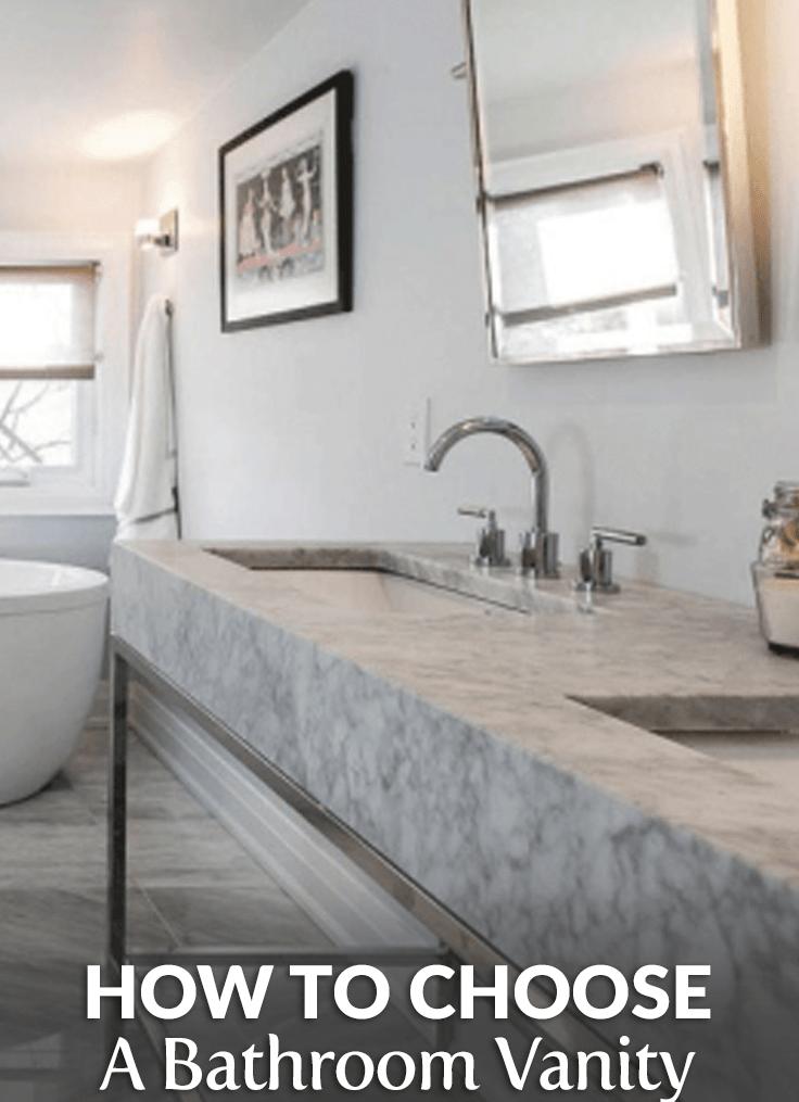 how to choose a bathroom vanity top