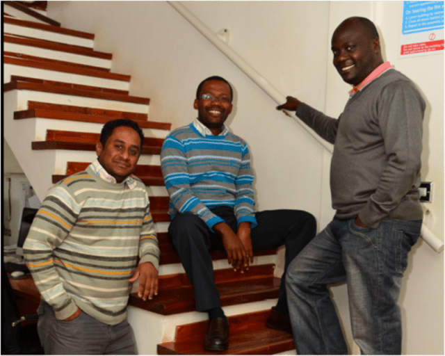 Morphosis Ltd Direcors from left, Yasir Brek, Leonard Mcharo and Adnan Mwakulomba Abdi