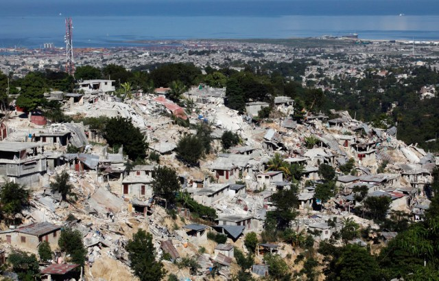 The devastation arising from the earthquate that hit Haiti in 2010