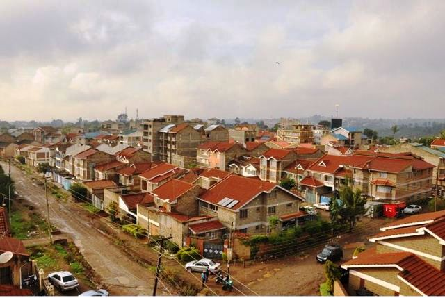 A birds eye view of Jamuhuri estate in Nairobi, an example of a development that lacks in planning and control