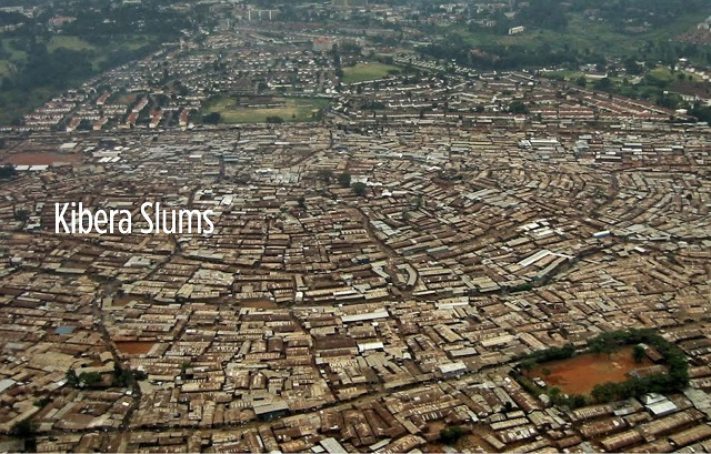 Aerial view of Kibera