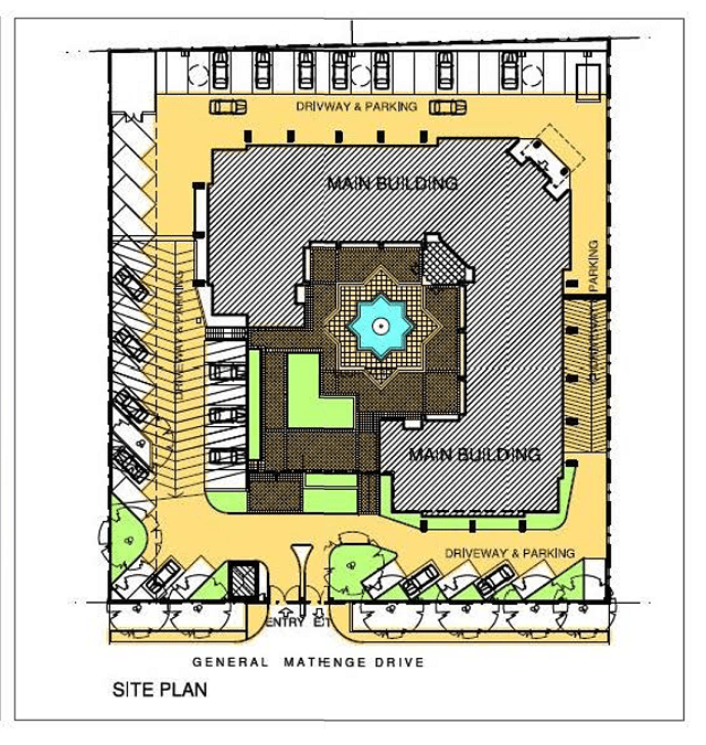 The Courtyard Building Ground Floor Plan
