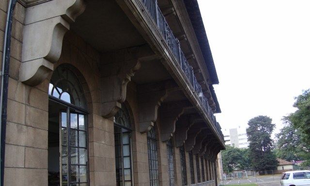 Balconies have also been used as sun shading elements for the lower floor