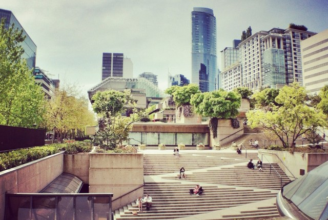The Robson Square in Vancouver, Canada. Universal design