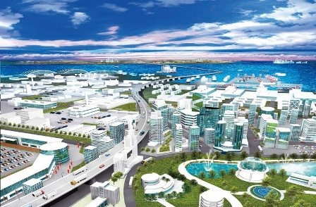An artistic impression of the planned special economic zone