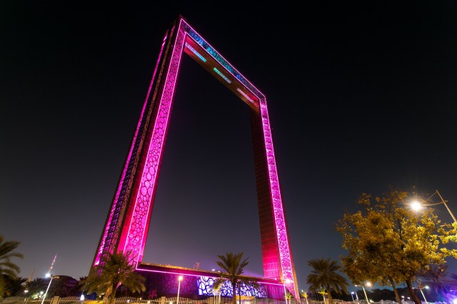 The frame at night
