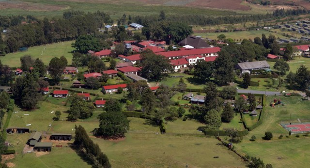 Aerial view of the preparatory school.