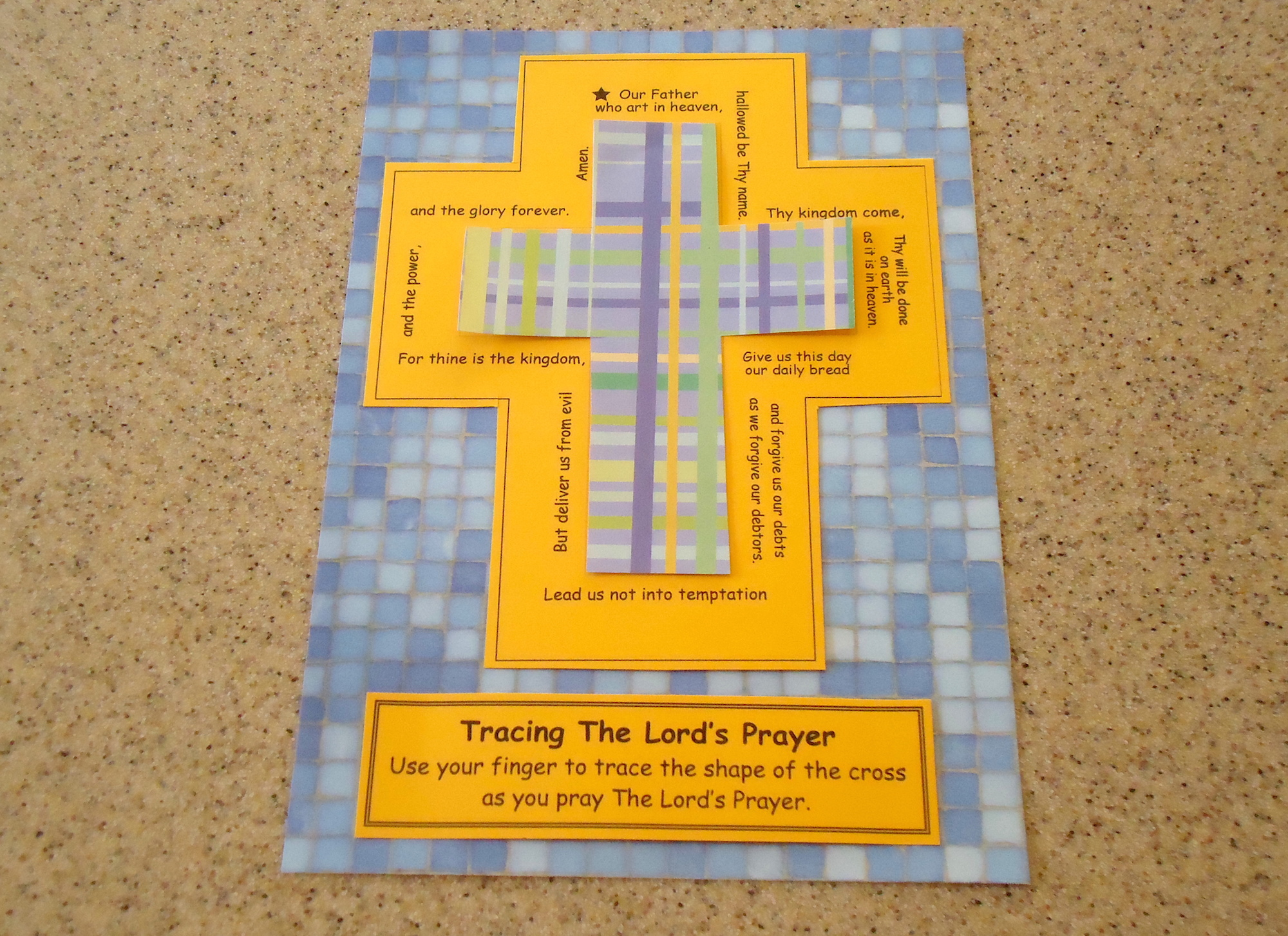 Activity For Lent Lord S Prayer Tracing Cross