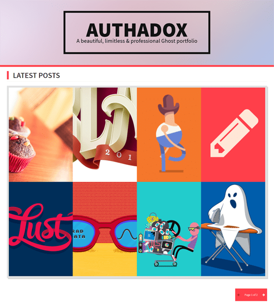 authadox portfolio ghost theme