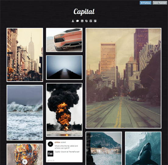 capital dark tumblr theme