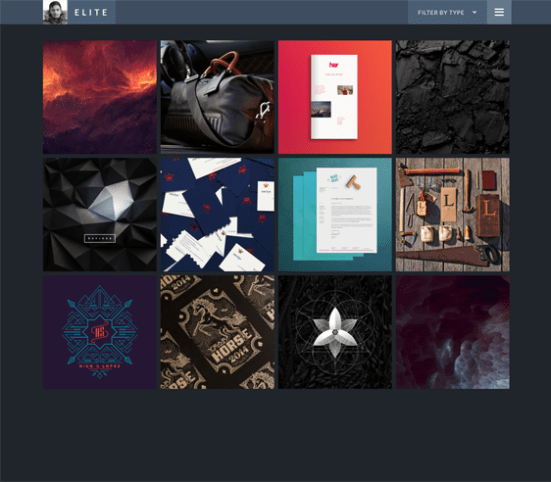 elite dark tumblr theme