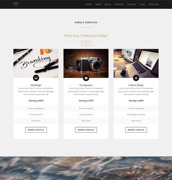 magnum one page drupal theme