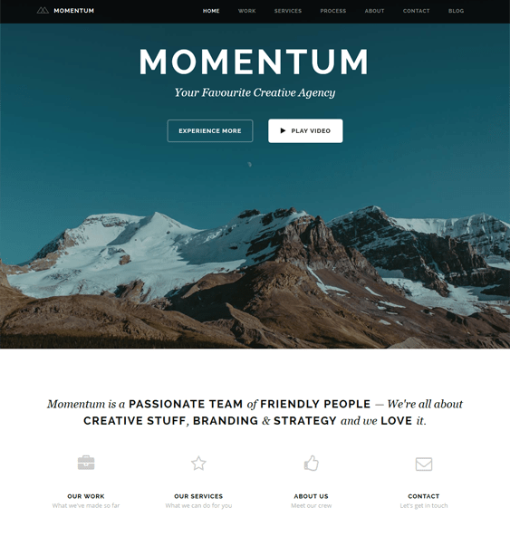 momentum one page drupal theme