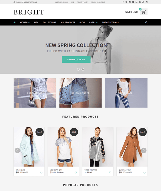 bright parallax shopify theme