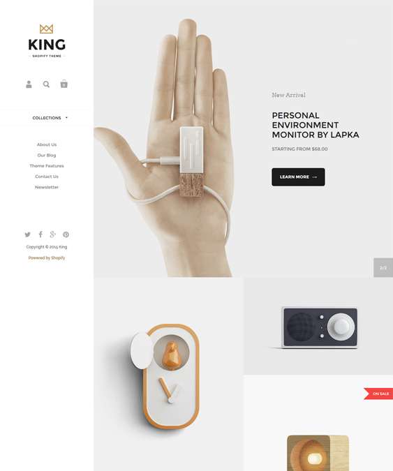 kingdom king minimal shopify theme