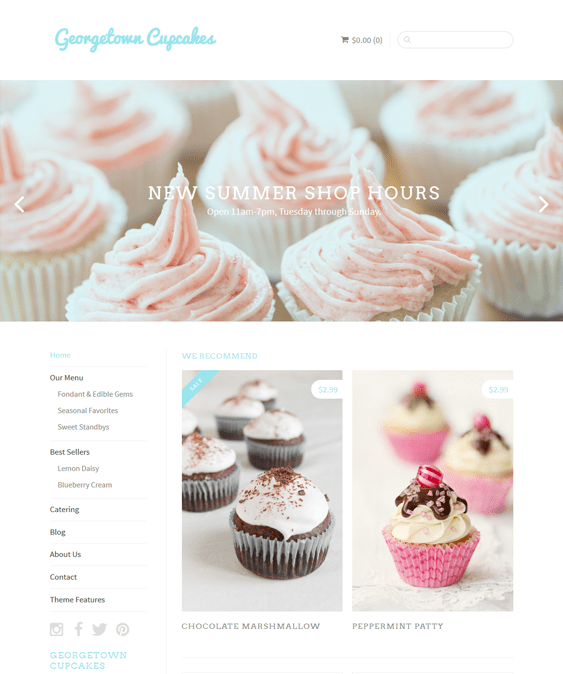 sugar food drink shopify themes