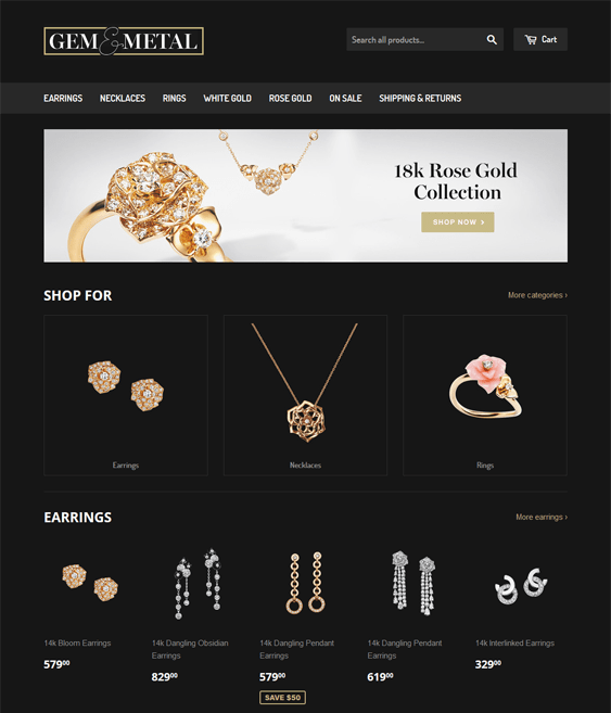 supply jewelry shopify themes