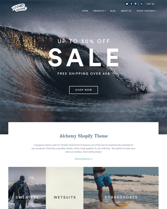 alchemy clean shopify themes