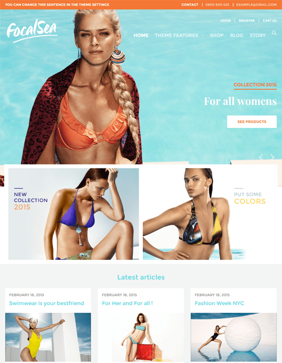 focal swimwear shopify themes