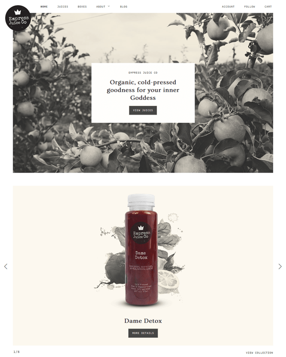 maker food drink shopify themes