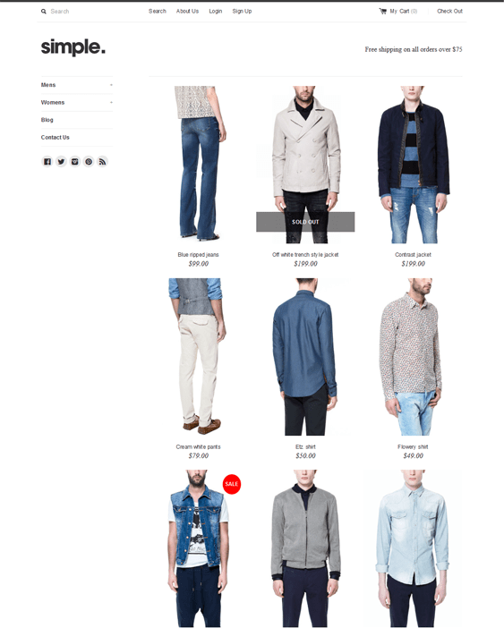simple apparel clothing shopify themes