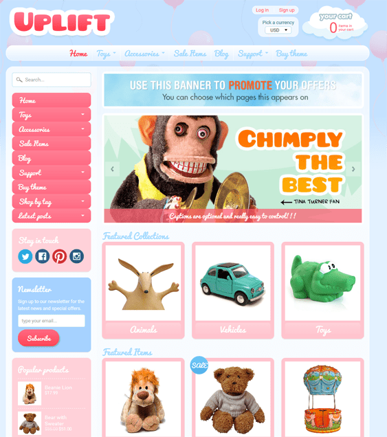 sunrise kids shopify themes