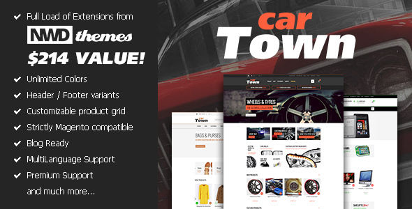 Cartown Premium Responsive Magento Theme by Nwdthemes (Magento theme)