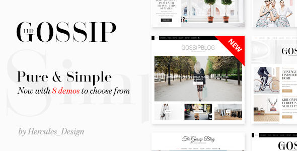 GossipBlog by Hercules_Design (video blog WordPress theme)