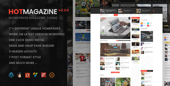 Hotmagazine by Nunforest (video blog WordPress theme)