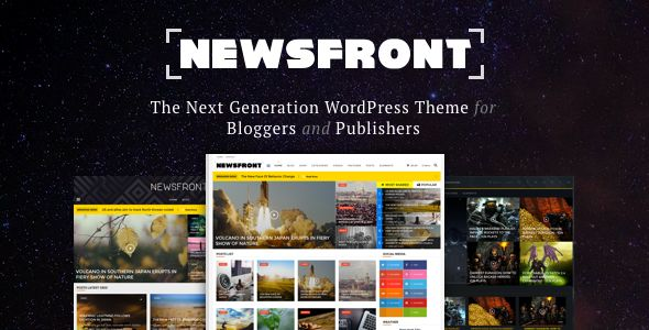 NewsFront by FranklinM2 (video blog WordPress theme)