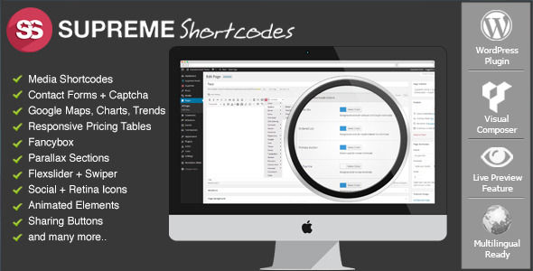 Supreme Shortcodes by SupremeFactory (pricing table plugin)