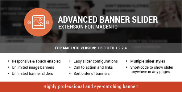 Advanced Banner Slider Extension For Magento by Themezaa (Magento extension)