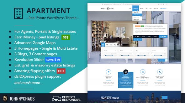 Apartment WP by Johnnychaos (real estate and realtor WordPress theme)