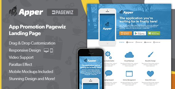 Apper by LanceMedia (landing page template for PageWiz)