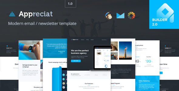 Appreciat by Promail (email templates for use with Mailchimp)