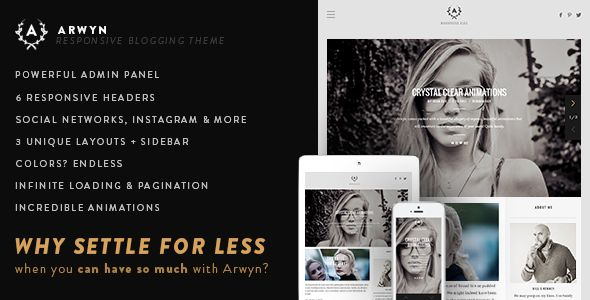 Arwyn by FinalDestiny (WordPress theme with infinite scrolling)