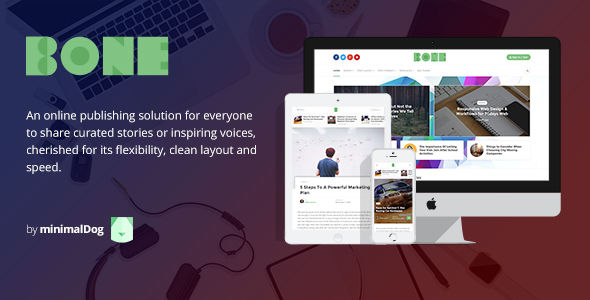 Bone by MinimalDog (magazine WordPress theme)