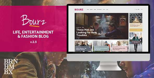 Bourz by Burnhambox (magazine WordPress theme)